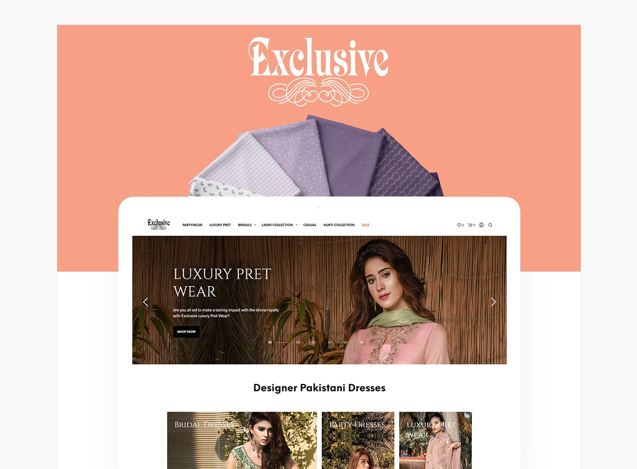 Fashion Industry ecommerce website